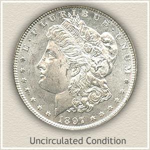 1897 Morgan Silver Dollar Uncirculated Condition