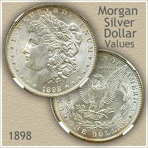 Uncirculated 1898 Morgan Silver Dollar Value
