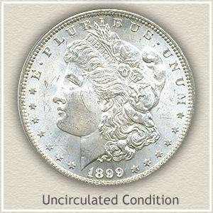 1899 Morgan Silver Dollar Uncirculated Condition