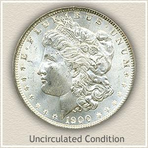 1900 Morgan Silver Dollar Uncirculated Condition