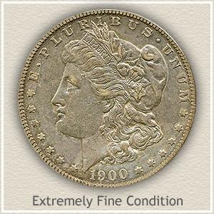 1900 Morgan Silver Dollar Extremely Fine Condition