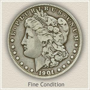1901 Morgan Silver Dollar Fine Condition