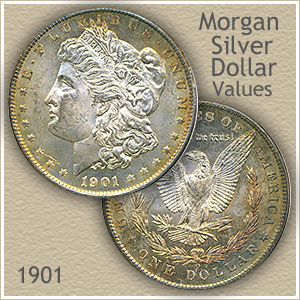 Uncirculated 1901 Morgan Silver Dollar Value