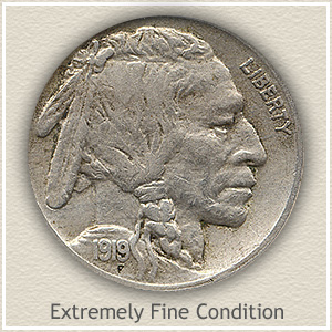 1919 Nickel Extremely Fine Condition