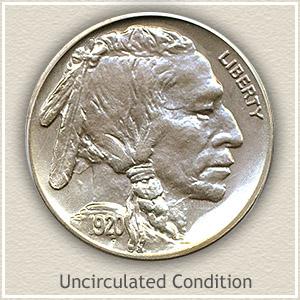 1920 Nickel Uncirculated Condition
