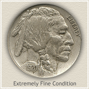 1920 Nickel Extremely Fine Condition
