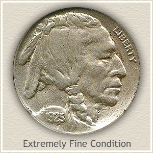 1925 Nickel Extremely Fine Condition