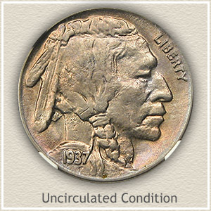 1937 Nickel Uncirculated Condition