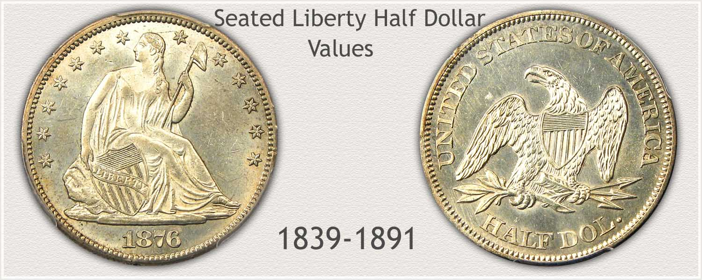 Uncirculated Seated Liberty Half Dollar