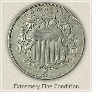 Shield Nickel Extremely Fine Condition