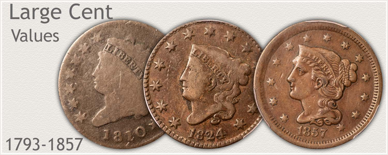 American Large Cent Values