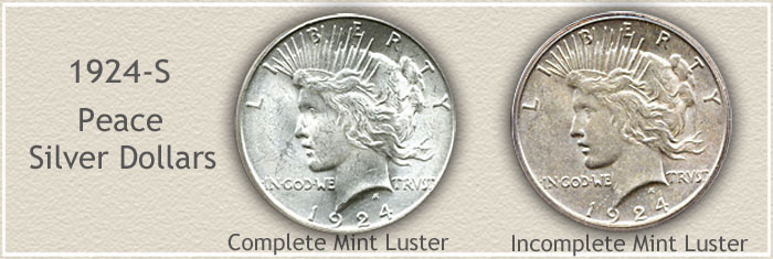 Visual Value Difference of Two 1924 Peace Silver Dollars