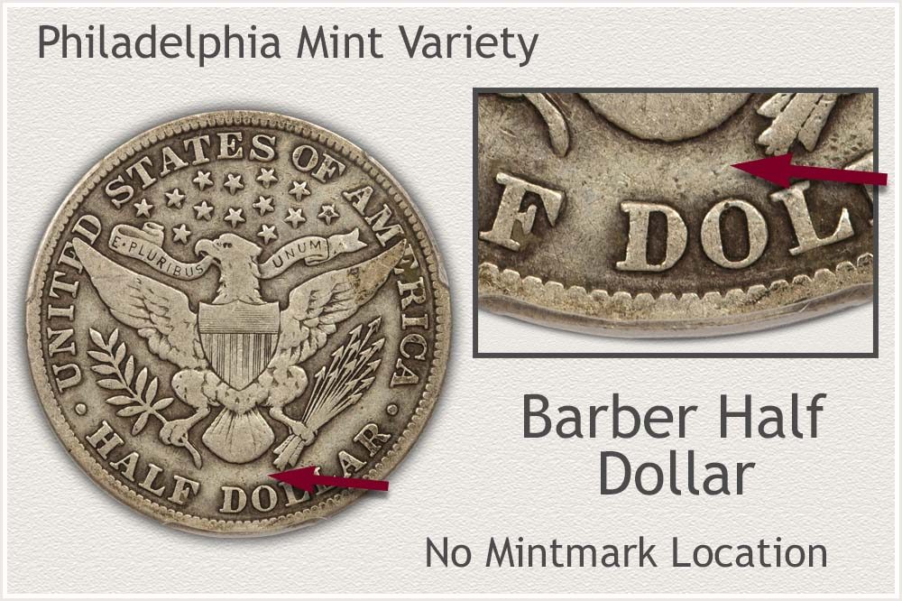 Philadelphia Mint Barber Half Dollar