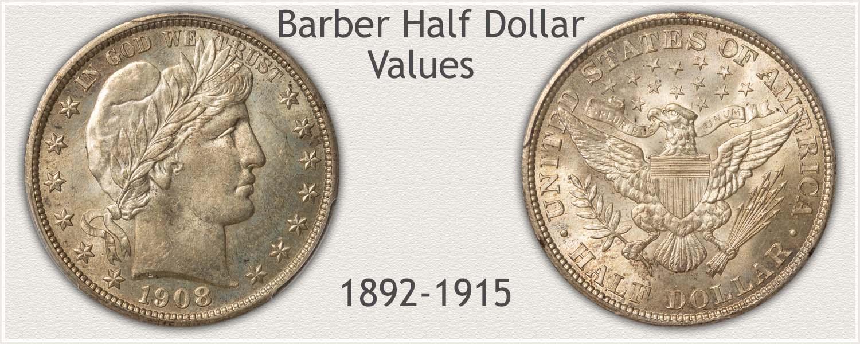 Barber Half Dollar in High Grade and Value