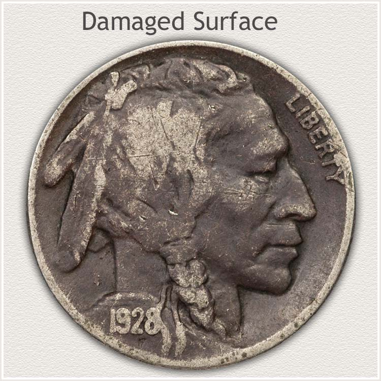 Damaged Buffalo Nickel