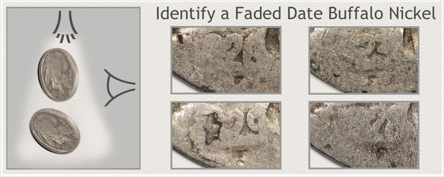 Lighting Angles to Identify Partial Date Buffalo Nickel