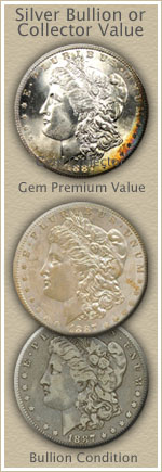 Bullion or Collector 1887 Morgan Silver Dollar Value