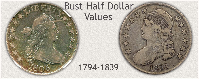 Uncirculated Bust Half Dollar