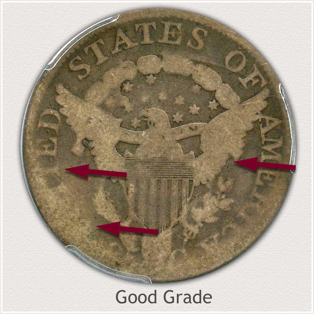 Reverse View: Good Grade Bust Quarter