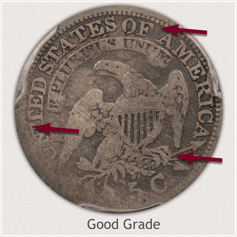 Reverse View: Good Grade Capped Bust Half Dime