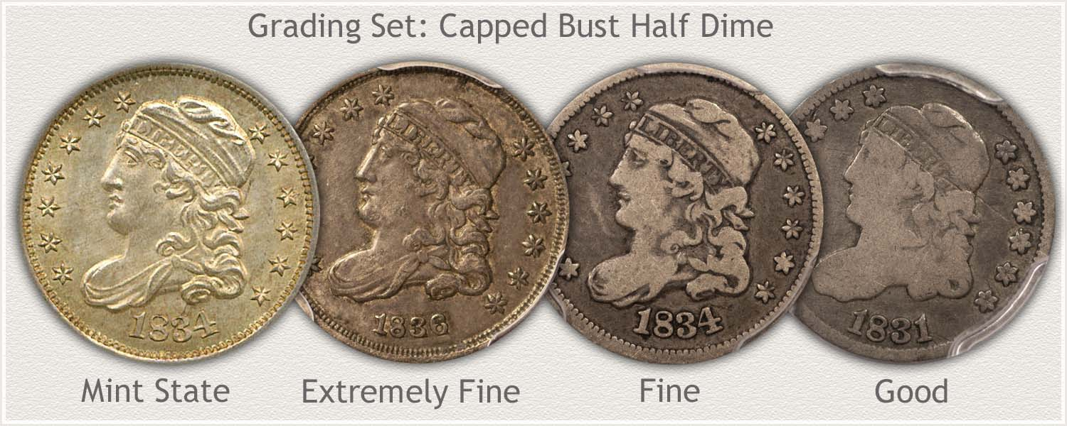 Grading Set of Capped Bust Half Dimes