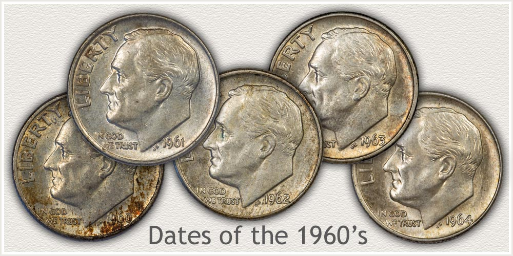 Circulated Silver Roosevelt Dimes