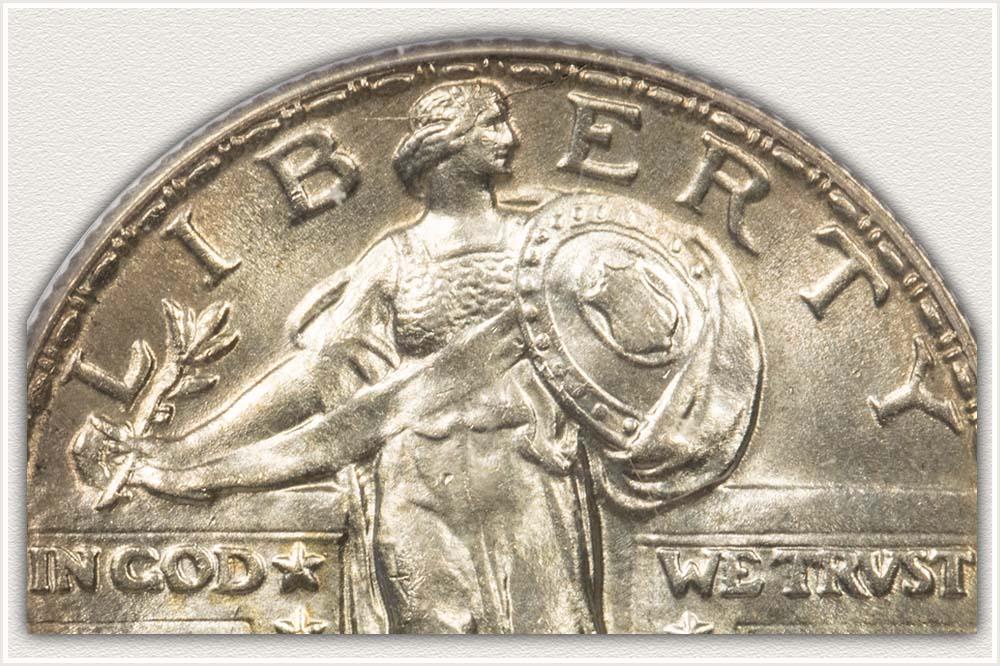 Close Up 1918 Standing Liberty Quarter
