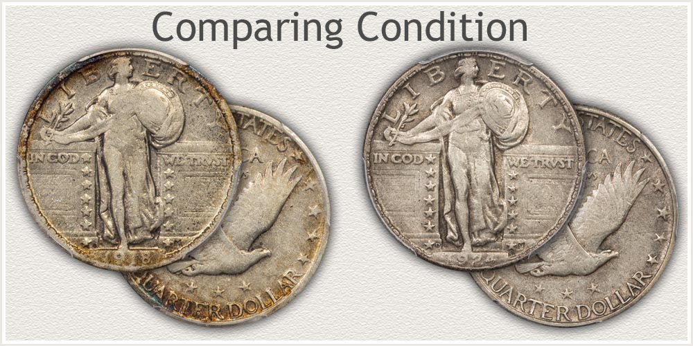 Standing Liberty Quarter: Obverse and Reverse: Nice Condition