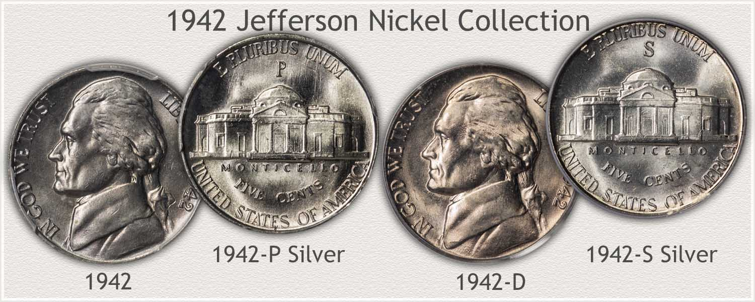 1942 Jefferson Nickel Collection