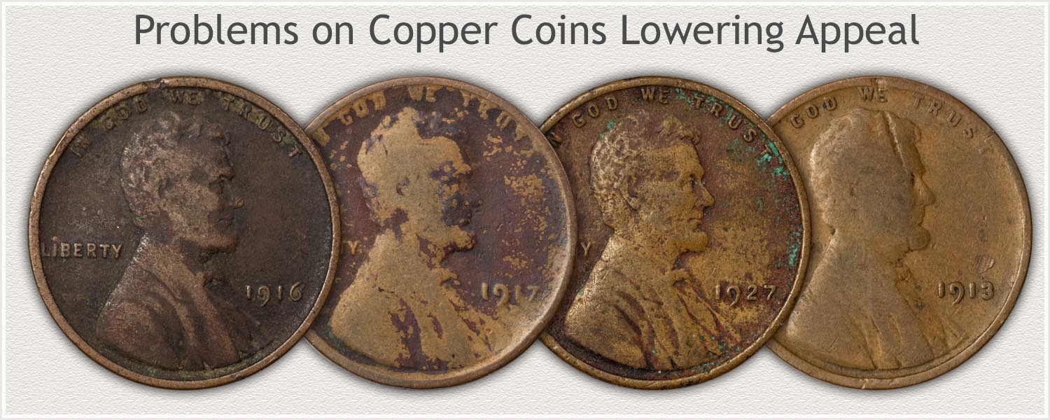 Examples of Copper Coins With Problems