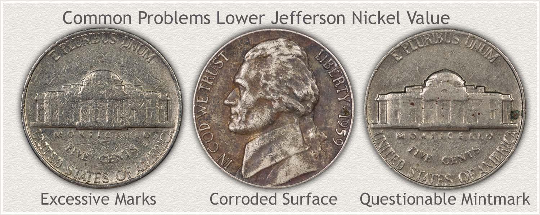 Common Damage Found on Jefferson Nickels