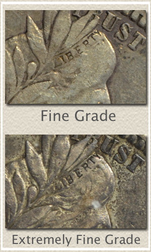 Compare Subtle Details of Fine to Extremely Fine Barber Quarter Grade