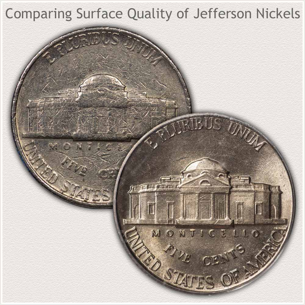 No Damage and With Damage Nickels