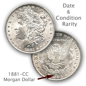 Condition Rarity 1881-CC Morgan Dollar