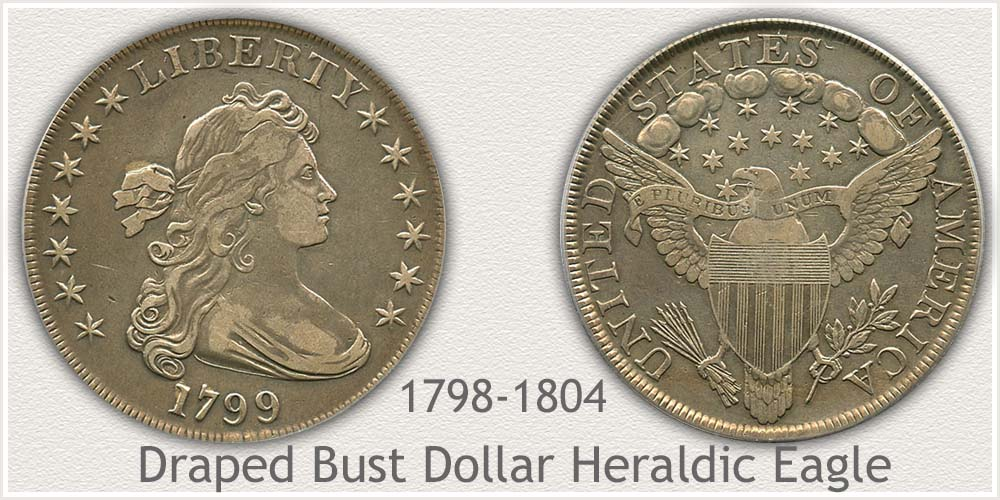 Heraldic Eagle Draped Bust Silver Dollar