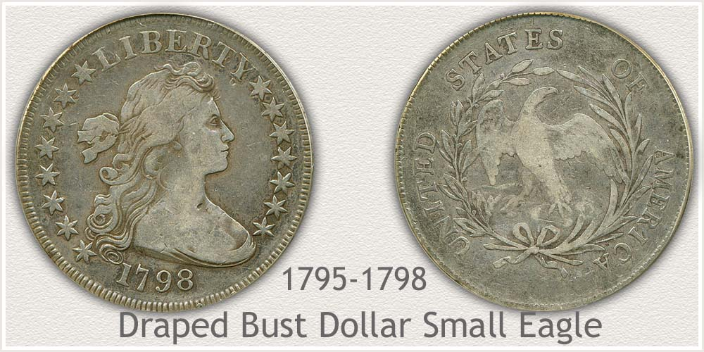 Small Eagle Variety Draped Bust Silver Dollar