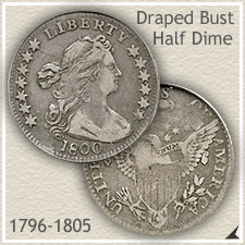Draped Bust Half Dime Type