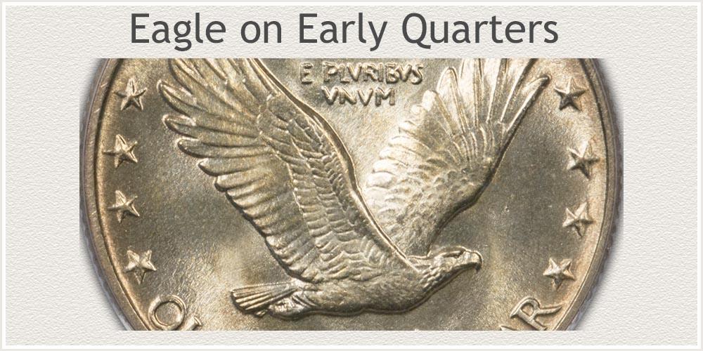 Close-Up of Eagle Reverse Standing Liberty Quarter