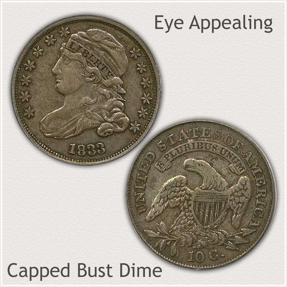 Eye Appealing Capped Bust Dime