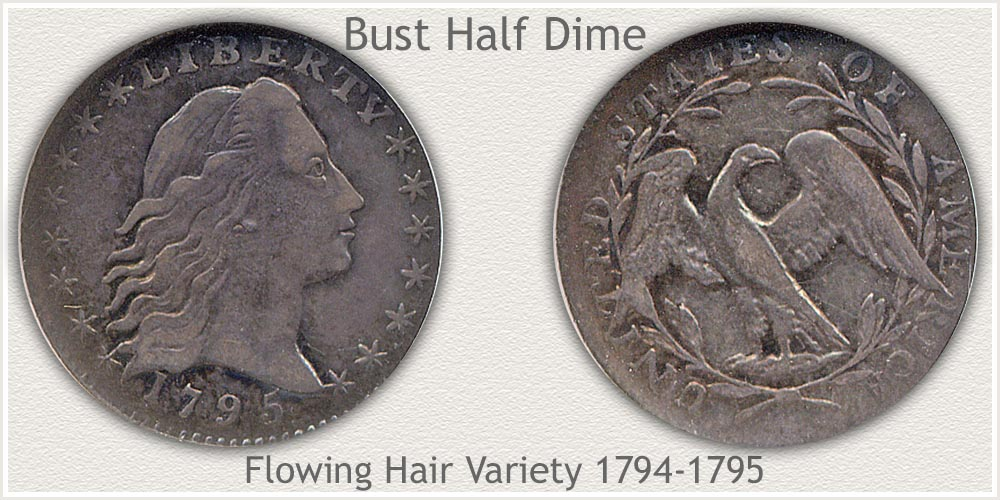 Obverse and Reverse Flowing Hair Half Dime