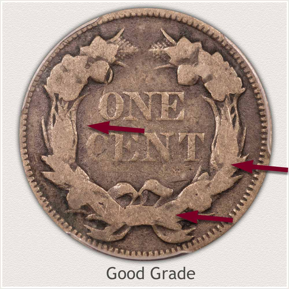Reverse View: Good Grade Flying Eagle Penny