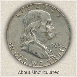 FRanklin Half Dollar About Uncirculated Condition