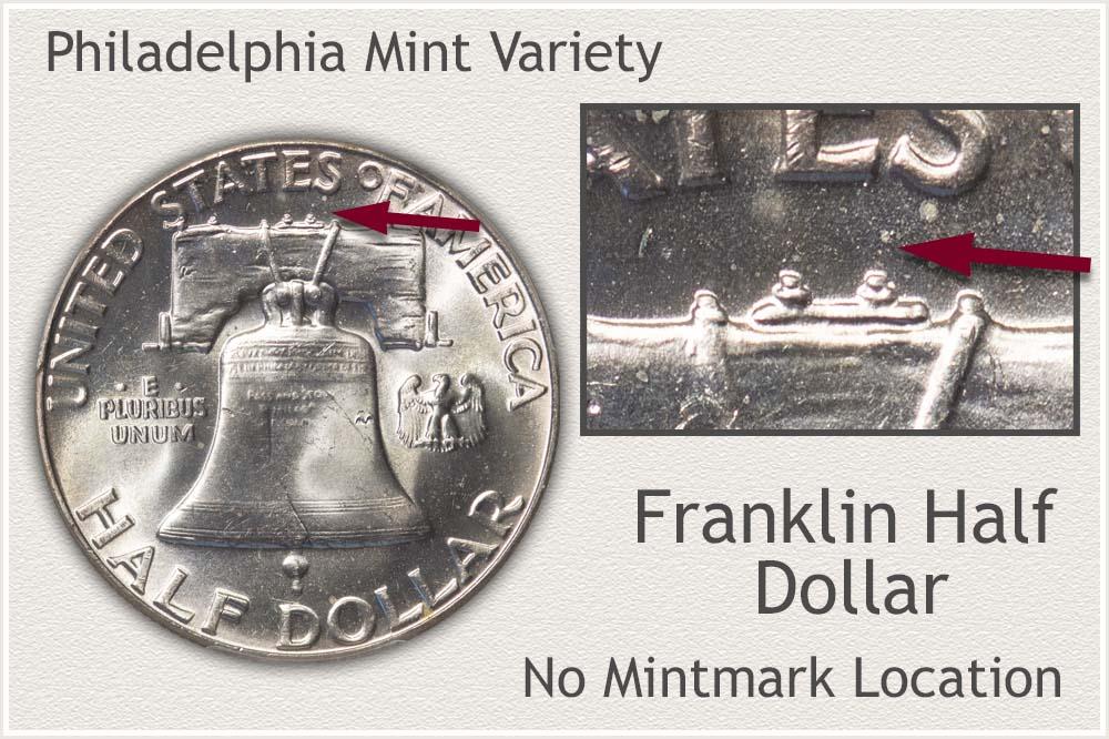 Franklin Half Dollar Struck at the Philadelphia Mint
