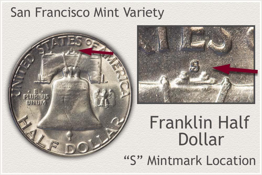 Franklin Half Dollar Struck at the San Francisco Mint