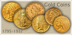 Gold Coin Values Listed...  Coin Value Guide to Liberty and Indian US Gold Coins