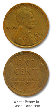 Wheat Penny in Good Condition