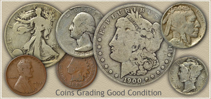 Coins Graded Good Condition