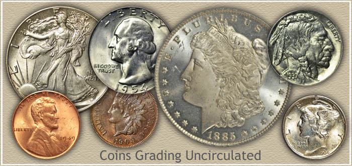 Coins Graded Mint State | Uncirculated