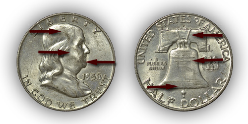 Grading About Uncirculated Franklin Half Dollar