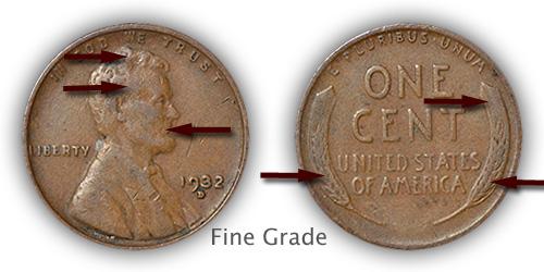 Grading Fine Lincoln Wheat Penny